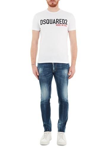 Dsquared2  Slim Fit Cepli Pamuklu Jeans Erkek Kot Pantolon S74Lb0870 S30664 470 Lacivert